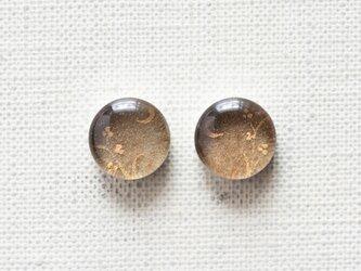 まるい耳飾り39/三日月と三つ葉の画像