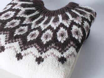 【限定】北欧風刺繍たっぷり ウール・ セーター ニットLH73Pの画像