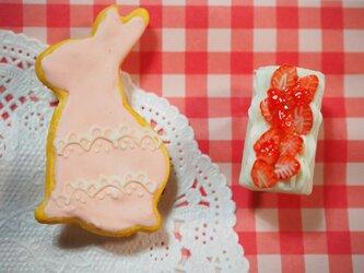 うさぎクッキーのブローチセット②の画像