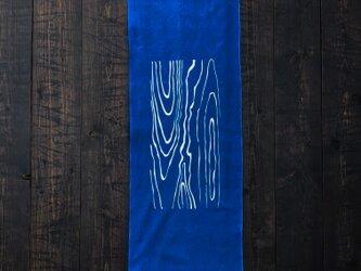 正藍染手拭い(年輪)の画像