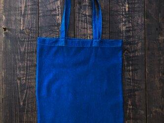 正藍染エコバッグ(無地、A4)の画像