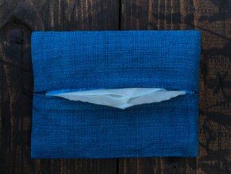 正藍染ポケットティッシュケースの画像