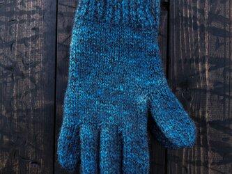 正藍染手袋の画像