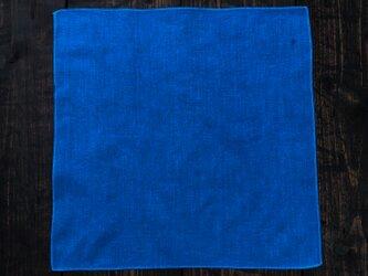 正藍染コットンハンカチ 430mm×430mmの画像