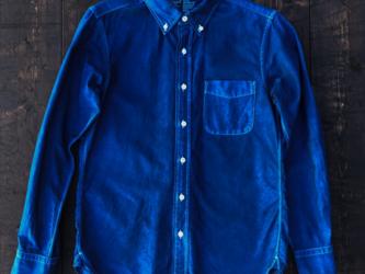 正藍染オックスフォードシャツ Ssizeの画像