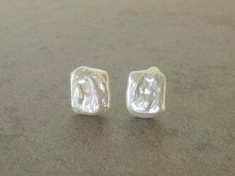 真珠の耳飾り イヤリング K10の画像