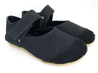 ROUND velcro-shoes #倉敷帆布 #受注製作の画像