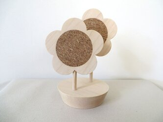 はなのコースターセット|maple(鉢のコースターたて付き)の画像