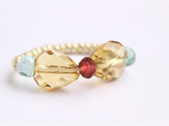 ブランデークォーツAAA リボン Ringの画像