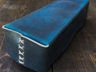 正藍染ボックスケースの画像