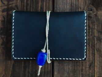 正藍染レザーカードケース(蜻蛉玉)の画像