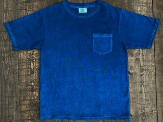 正藍染ポケットTシャツ Ssizeの画像