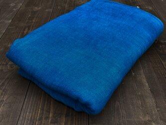 正藍染ガーゼブランケット 180cm×180cmの画像