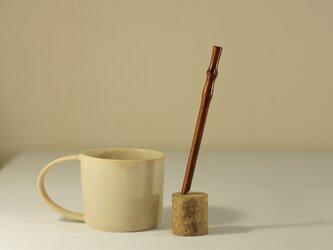 【短い】さくら漆ストロー(茶)[Sakura Straw Short] 15cm x Φ6mmの画像