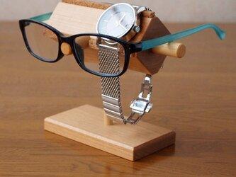 メガネ&腕時計スタンド の画像