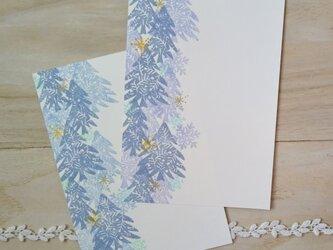消しゴム版画 ポストカード(冬の景色)の画像