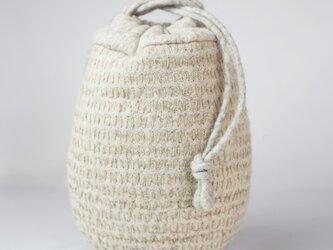 羊毛+麻/小さなバッグの画像