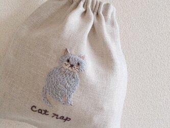 おさんぽ巾着ミニ cat napの画像