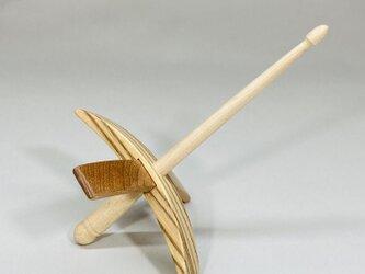 ターキッシュスピンドル 紡ぎ道具 ゼブラウッドの画像