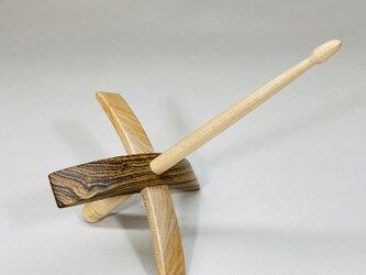ターキッシュスピンドル 紡ぎ道具 ボコテ材の画像