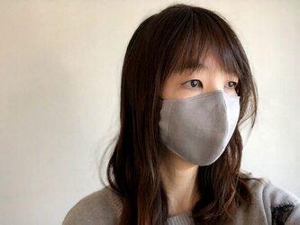 リネンの立体マスク 抗菌・抗ウィルス 大人用・子供用 ノーズワイヤー入りの画像