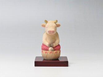 木彫り 丑仏さま 座禅牛 丑仏2018の画像