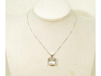T様、オーダー品(枠のリフォーム)_15.40ct水晶とSV925のトップ(ロジウム、ブラジル産)の画像