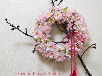 夢見る桜の木のリース(縦横40センチ、リース部分は26センチ)の画像