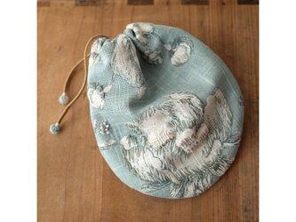 ♡半額sale♡フレンチコットンリネンの巾着 sdeco colib gbbbの画像