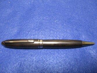 縞黒檀 上杢 木地仕上げ 回転式ヨーロピアンボールペン の画像
