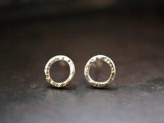 ミルキーウェイサークルピアス / Sサイズ  ( Milky way circle earrings・Small size )の画像