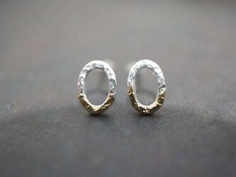 ミルキーウェイ オーバルピアス / Sサイズ ( Milky Way Oval Earrings・Small size )の画像