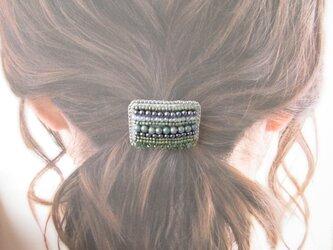 Hair accessory ヘアゴム ビーズ刺繍(K0982)の画像