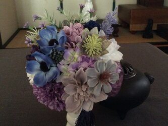 仏花   真珠の涙  恒  (仏花、造花、お供え、お盆、お彼岸、敬老の日)の画像