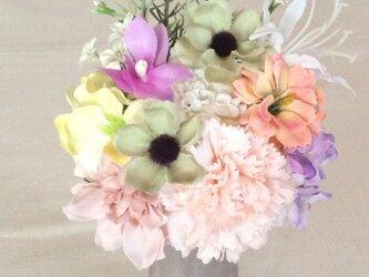 仏花   真珠の涙  花 (仏花、造花、お供え、お盆、お彼岸、敬老の日)の画像