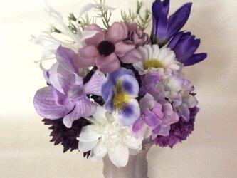 仏花   真珠の涙  信 (仏花、造花、お供え、お盆、お彼岸、敬老の日)の画像