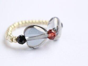 シルバーフラッシュクリスタル リボン Ringの画像