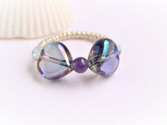 ブルーオーラ リボン Ringの画像