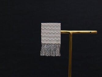 手織り三河木綿ピアス◎片耳◎●イヤリング変更可●ホワイト040【受注制作】の画像