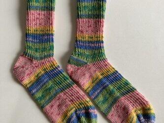 手編み靴下【OPAL おちゃめな友達 9760】の画像