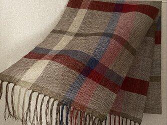 手織りストール W21の画像