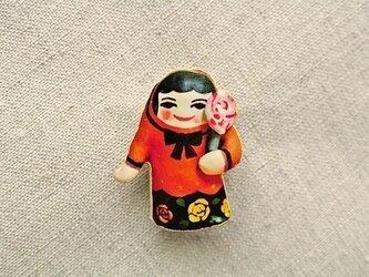 飴ちゃん人形ブローチの画像