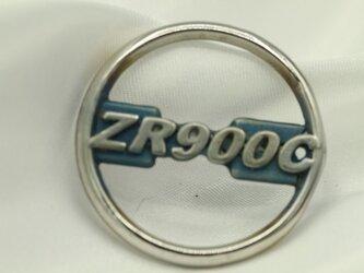 Z900RS型式カワサキマークキーホルダー高級希少金属コバルト製の画像