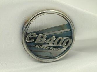 CB400SFウイングマークキーホルダー高級希少金属コバルト製の画像