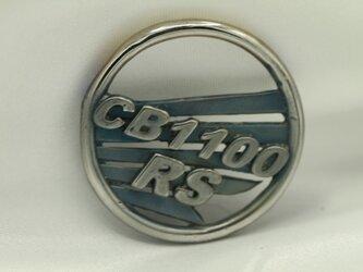 CB1100RSウイングマークキーホルダー高級希少金属コバルト製の画像