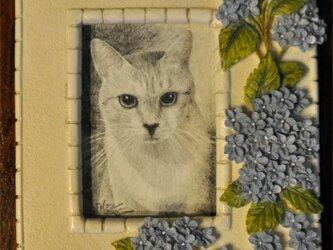 猫の細密画小品の画像