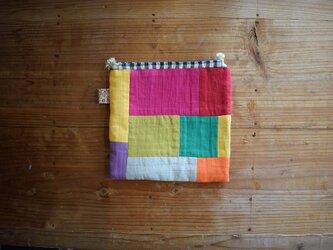 ☆ Fragments of the rainbow ☆ 虹のかけら パッチワーク 巾着の画像