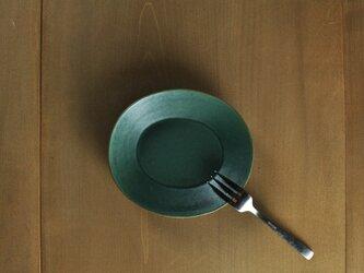 楕円5寸皿/緑の画像