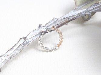ガラス×メタル バイカラーイヤーカフS(ロジウム)  I0101の画像