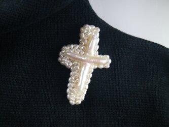 真珠クロスの画像
